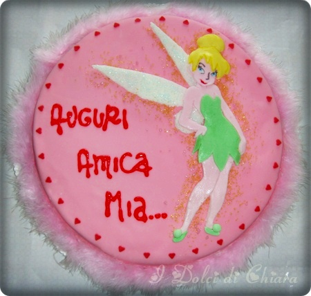 torta trilly, tinkerbell cake